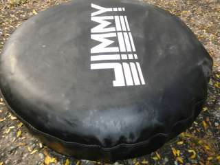 GMC JIMMY BLACK SPARE TIRE COVER USED 15