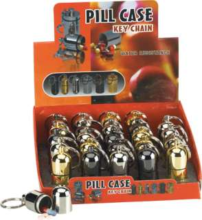 Multi Purpose Waterproof Pill Case Key Chain Stash Box
