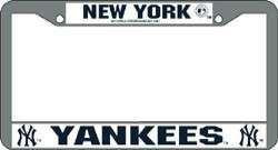 New York Yankees MLB Chrome License Plate Frame