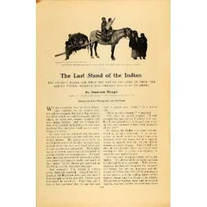 1909 Article Last Stand Indian Emerson Hough Sioux   Original Print