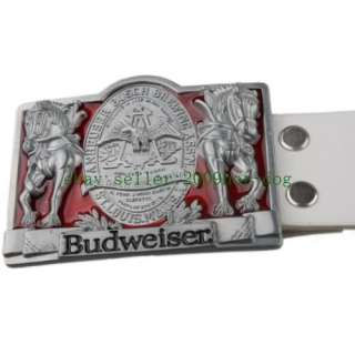 Budweiser Beer PUB Beerhouse Beverage Drink Belt & Buckle Xmas Gift