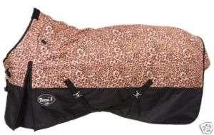 Waterproof Horse Winter Blanket Turnout Leopard 600D 69