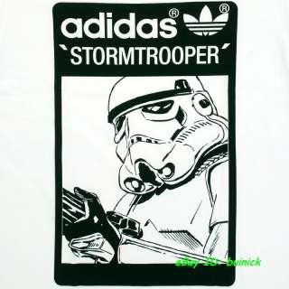 ADIDAS STAR WARS TEE SHIRT STORMTROOPER White Black new M
