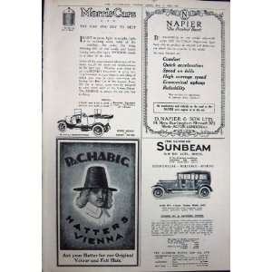 1923 BEECHAMS PILLS HATTERS VIENNA NAPIER SUNBEAM CAR