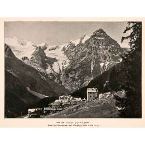 1899 Print Ortler Mountain Range Alps Italy Trafoi Valley