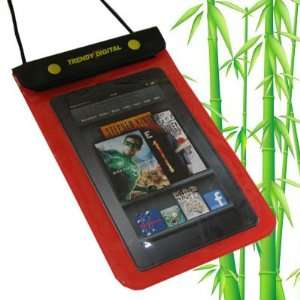 Waterproof Case for Kindle Fire Android Tablet (Red)  Players