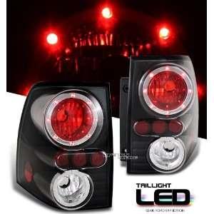 SUV 03 04 05 Black Altezza LED Ring Tail Light Pair Automotive