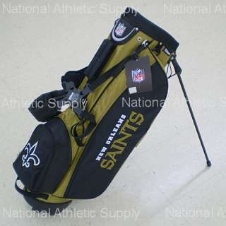 Wilson New Orleans Saints NFL Carry / Stand Golf Bag 883813404841