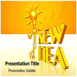 New Idea PowerPoint Template   Backgrounds on PowerPoint Templates New