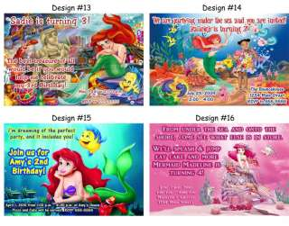 Ariel The Little Mermaid ~ Birthday Party Ticket Invitations, Supplies