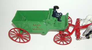 Iron Horse Drawn Sand & Gravel Wagon   Mint  (DP)
