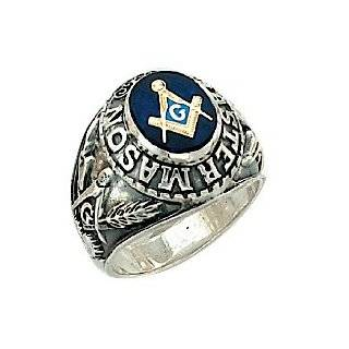 FREEMASON BLUE MONTANA MASON MASONIC PRINCE HALL MEN CZ RING S 11 [NEW