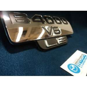 MAZDA B SERIES TRUCK SIDE CHROME EMBLEM B 4000 V6 LE