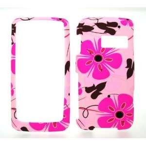 Pink Flower Rubberized Snap on Hard Skin Shell Protector