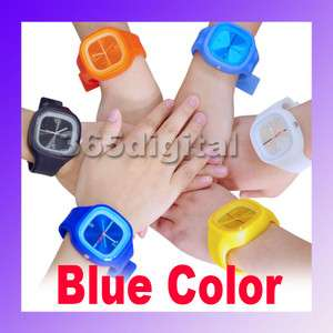 Silicone Unisex Wrist Sports Quartz Rubber Jelly Watch BL New