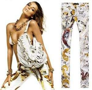 NEW Italy Brand Floral Print Pencil Pants Skinny Jeans