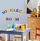 Colorful Alphabet Letters Wall Stickers Decals Nursery