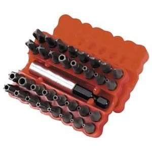 Techni Tool Bit Set, Security And Tamper Proof, 35 Pc