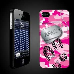 Military iPhone Case Designs Pink Camo   Army Dog Tags/Boot