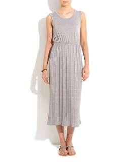 Grey (Grey) Grey Pleated Jersey Midi Dress  242587804  New Look