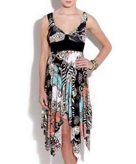 null (Multi Col) Urban Bliss Baroque Print Handkerchief Dress