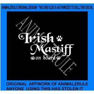 IRISH MASTIFF DOG VINYL DECAL
