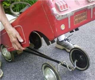 VINTAGE PRESSED STEEL FORD MUSTANG PEDAL CAR