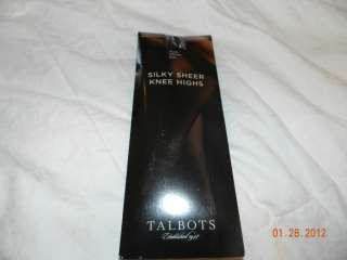 Ladies Talbots Silk Sheer Knee Highs Black 3 Pair New