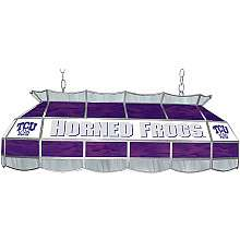 Trademark Global TCU Horned Frogs 40 Stained Glass Tiffany Lamp