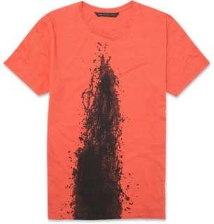 Clothing  T shirts  Crew necks  Lava Print Jersey T