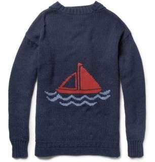 Aubin & Wills Bristowe Cotton and Wool Blend Intarsia Sweater  MR