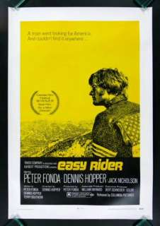 EASY RIDER *1SH ORIG MOVIE POSTER 1969 BIKER MOTORCYCLE