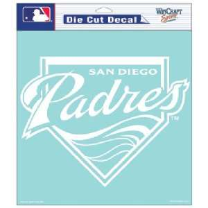 San Diego Padres MLB Die Cut Decal (8x8) Sports