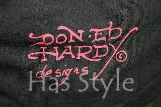 Ed Hardy Mens T Shirt BRAD smoking SKULL STONES XL