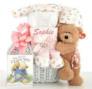 Little Miracle Baby Girl or Boy Gift Basket For The New Mom