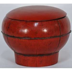 China, Wood (Mu), Antique Asian Decor: Chinese Red Buc: Home & Kitchen