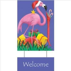 WeatherPrint 90650811 Standard Papyrus  Flamingo & Presents Welcome