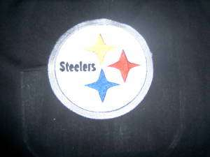 PITTSBURGH STEELERS FOOTBALL LOGO FABRIC QUILT BLOCK