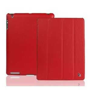 Ipad 2 Leather Smart Cover Case RED Electronics
