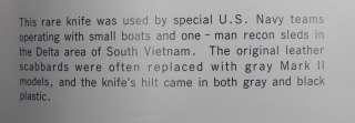 RARE US Vietnam Era DELTA Fighting Knife & Sheath