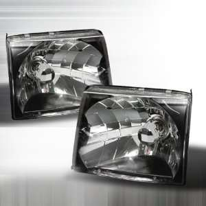 1997 1999 Toyota Tacoma Crystal Housing Headlights Black