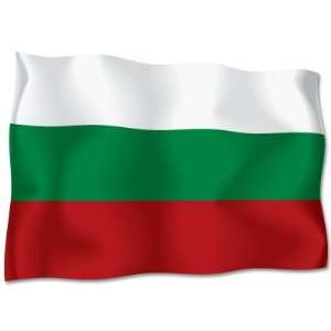 BULGARIA Flag car bumper sticker decal 6 x 4