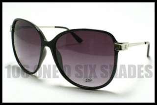 Oversized Chic Fashion Sunglasses BLUE Snake Skin Printed
