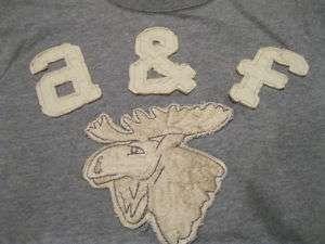 NWT Abercrombie & Fitch Boys Grey MOOSE T Shirt L, XL