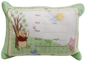 Winnie the Pooh Keepsake Baby Pillow Boys Girls Nursery
