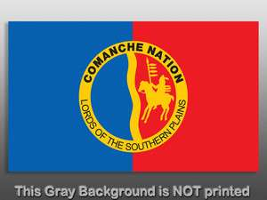 Comanche Nation Flag Sticker decal lord southern native