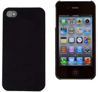 Rubber Matte Hard Case Cover For iPhone 4G 4S w/ Screen Guard