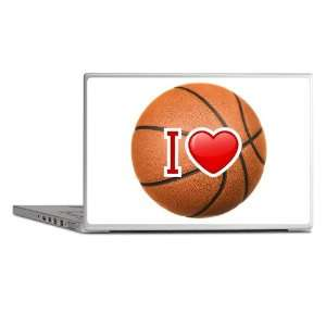 Laptop Notebook 8 10 Skin Cover I Love Basketball