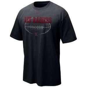 Nike Texas Tech Red Raiders Black Quarterback Draw T shirt
