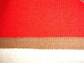 ST JOHN Womens GORGEOUS Knit Red Cream Dress Small NICE
